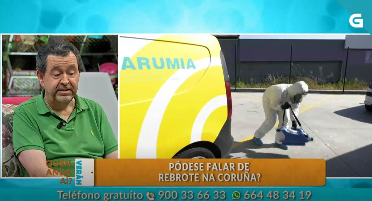 Arumia en la Televisión de Galicia