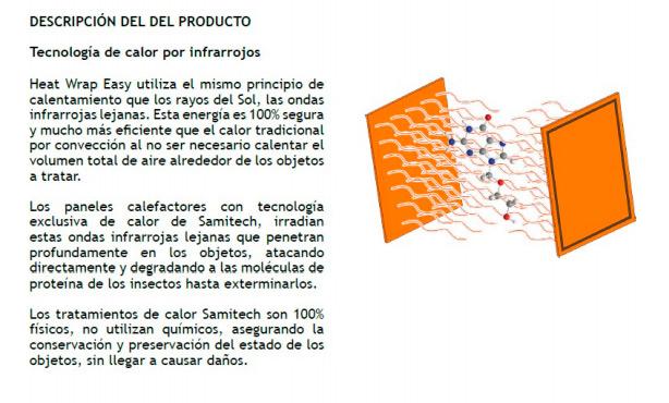 tecnología de calor por infrarrojos