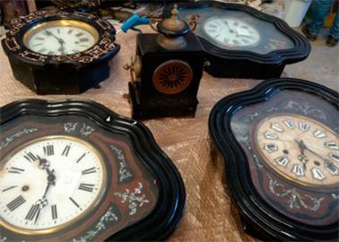 tratamiento carcoma en relojes antiguos